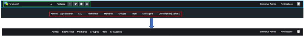 Modifier barre de navigation sous ModernBB Ok10
