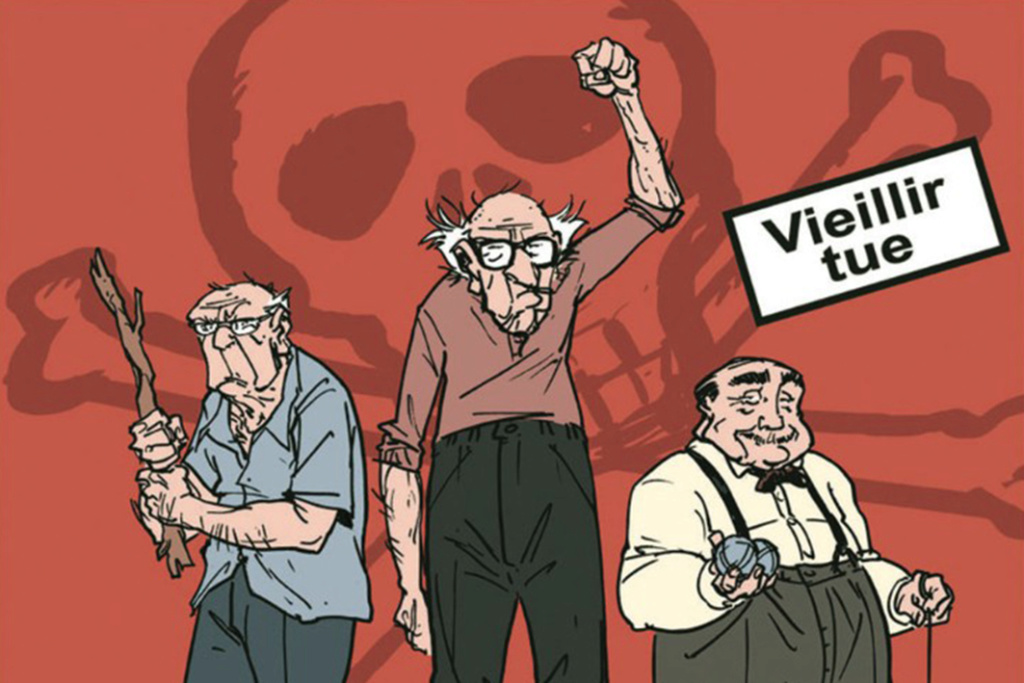 """Les Vieux """"For ever""""Nous pourrions la mettre en banderolle Les_vi10"""