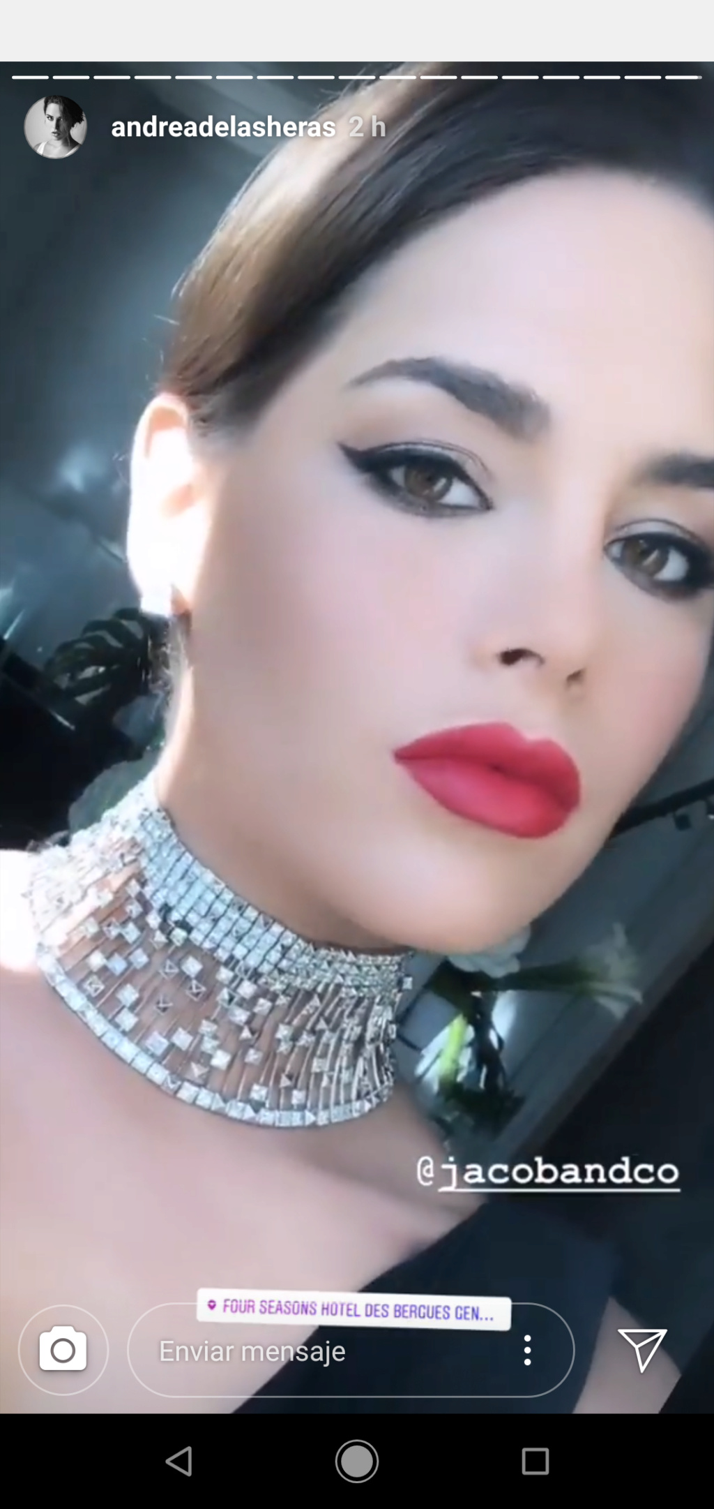 andrea de las heras, miss europe 2019. Screen10
