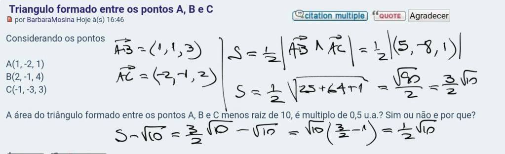 Triangulo formado entre os pontos A, B e C Scre1426