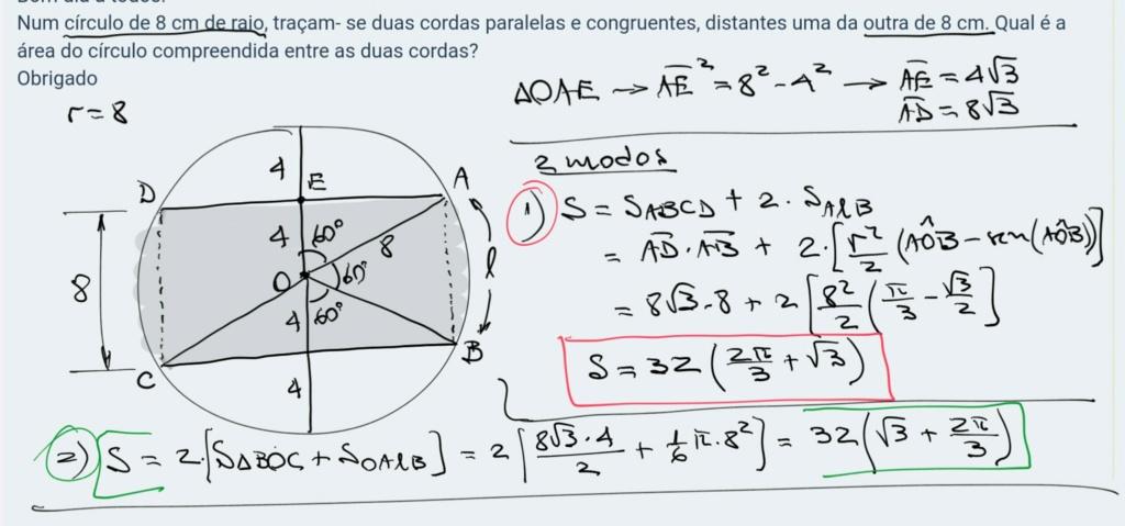 Área do círculo Scre1453