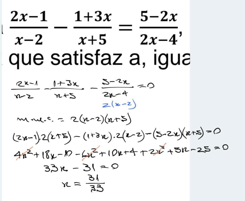 Equação fracionária Scre1465