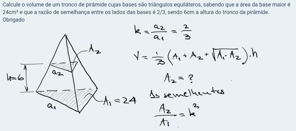 Volume do tronco de pirâmide Scre1494