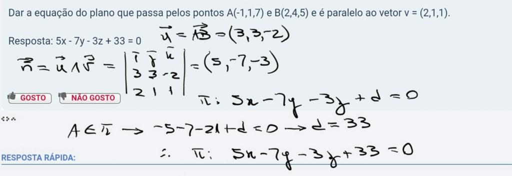Equação do plano Scre1499