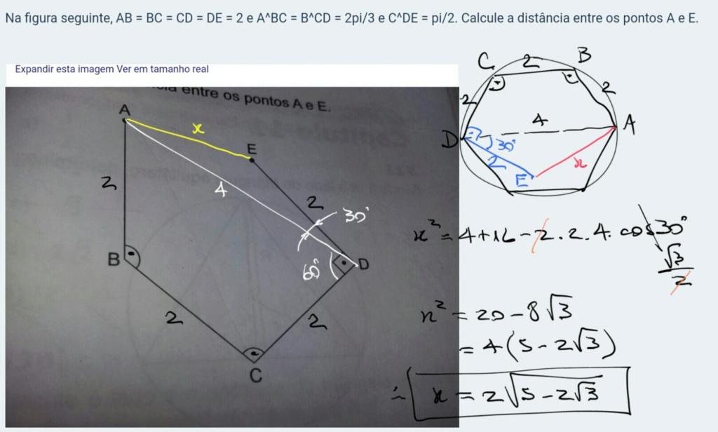Lei dos cossenos - FGV (SP) Scre1528