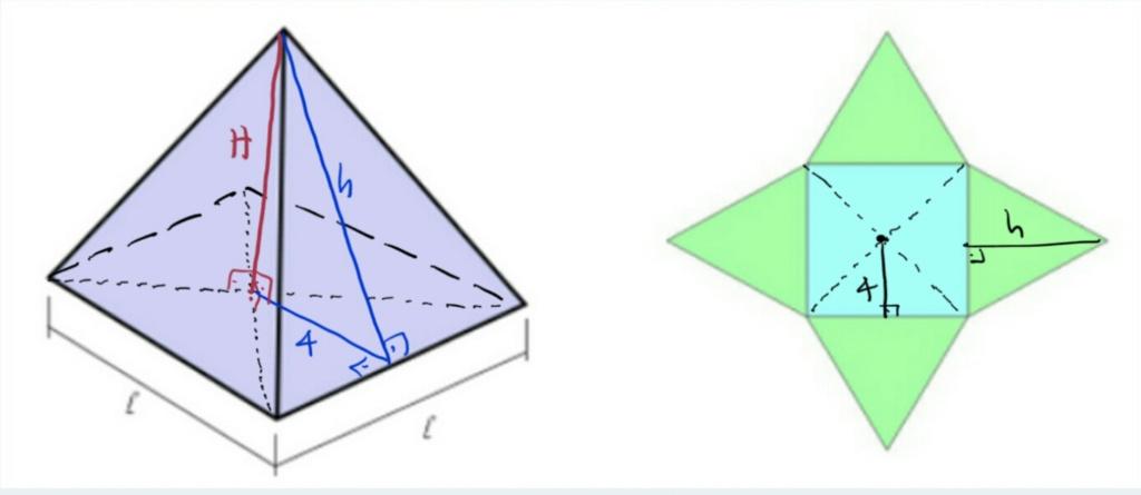 Pirâmide - área lateral  Scre1571
