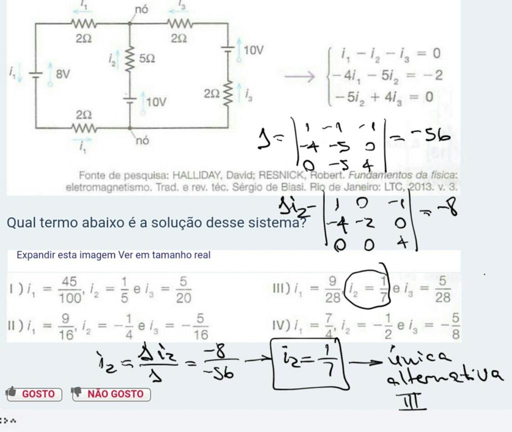 Questão sobre Sistema Linear Scre1584
