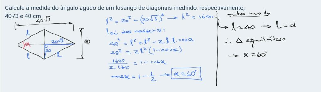 losango pode ser dividido em dois  Scree297