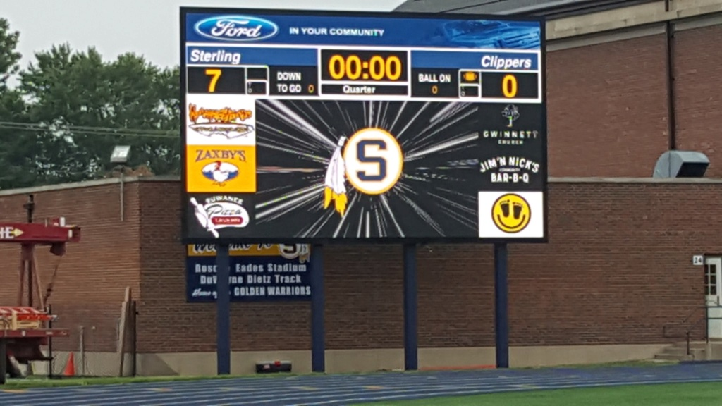 new video scoreboard at sterling hs Dkptqh10