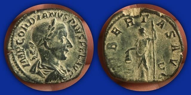 Sestercio de Gordiano III. LIBERTAS AVG/S C 17dcc710