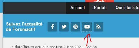 YouTube dans la barre de toolbar Captur29