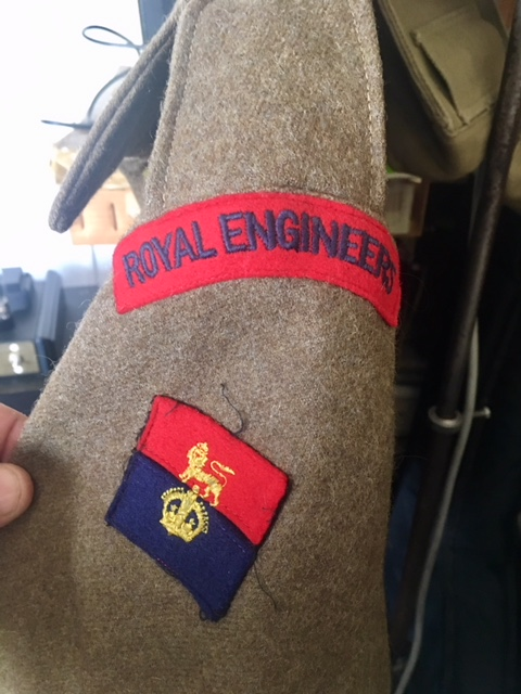 battledress pattern 40 Royal engeeners identification patch d'épaule Img_8010