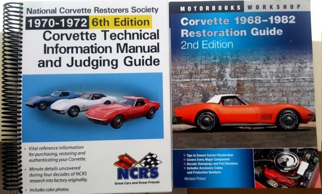 Les meilleurs livres pour une restauration corvette C3 1968 20200212