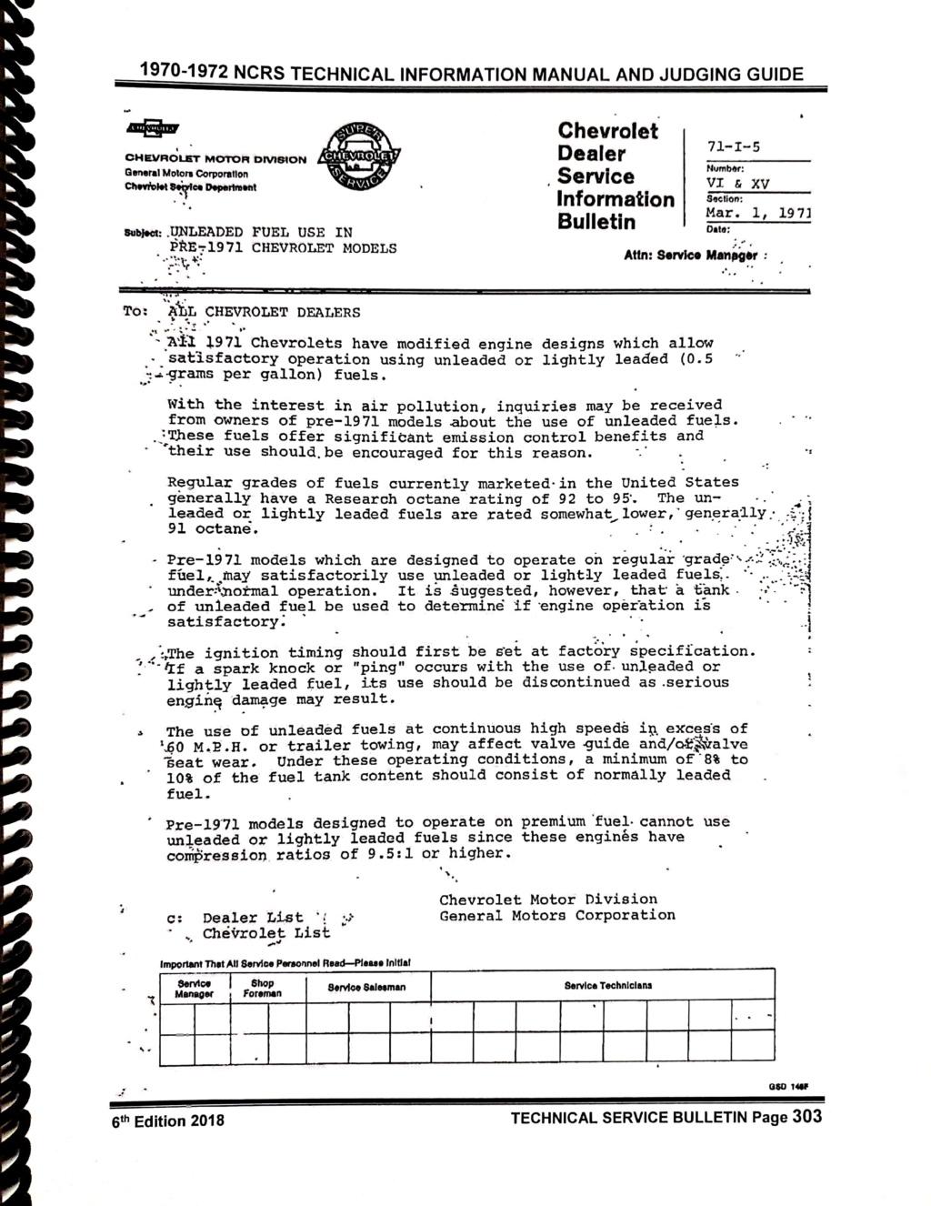 """CHEVROLET  """"Dealer Service Bulletins"""" Nouvea15"""