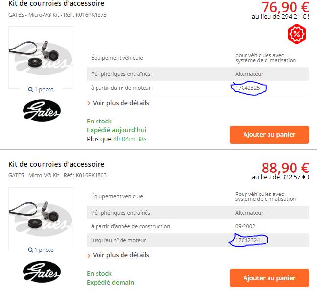 [ Opel zafira 2.2 dti 125cv an 2002 ] problème courroie accessoire a changer  Captur10