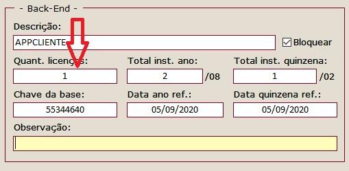 Dúvida exemplo Gerenciador de licenças online em MySQL Qtdlic11