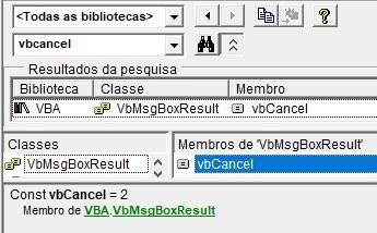 [Resolvido]Comportamento estranho em teste de Resposta a uma InputBox quando Resposta = 2 Vbcanc10