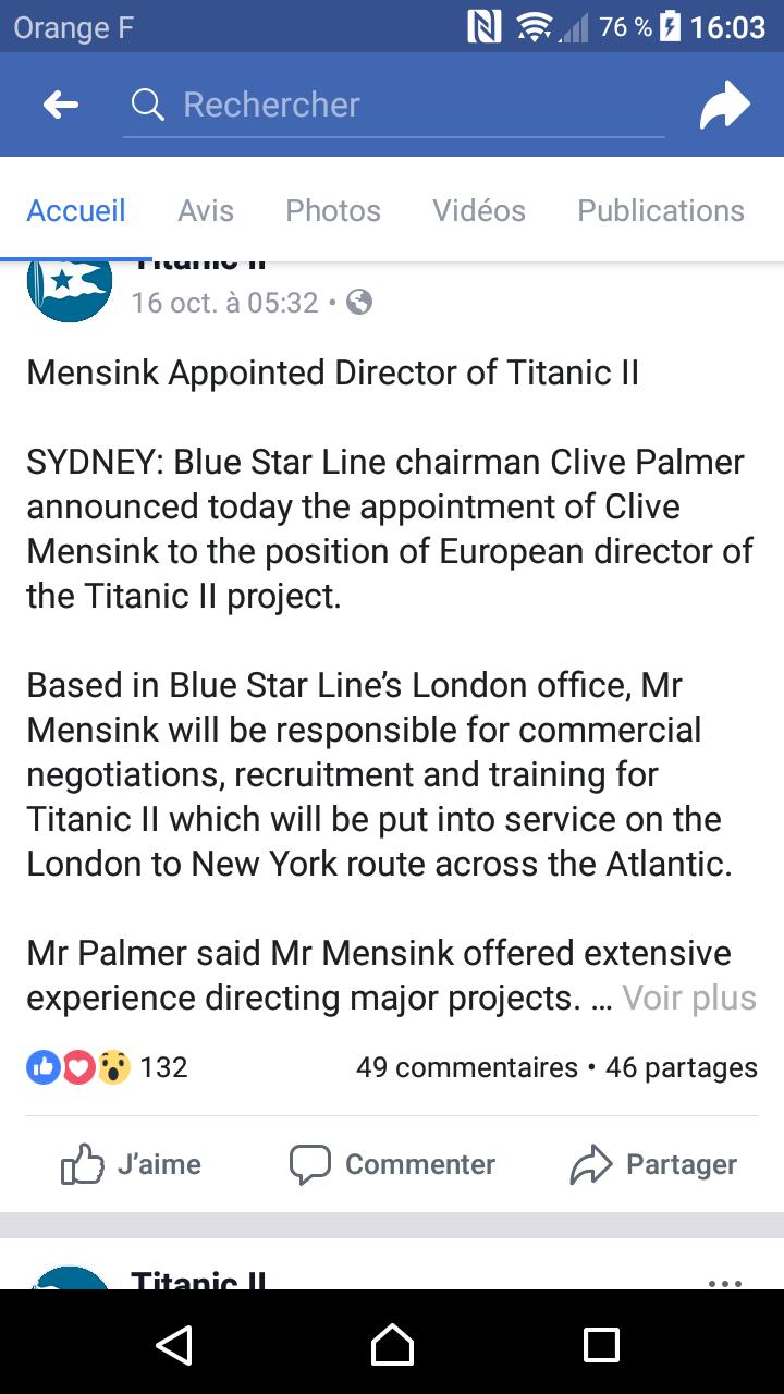 Un milliardaire australien veut construire le Titanic II - Page 42 Screen10