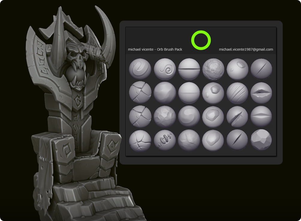 Add ZBrush brushes to sculpt into MeshMolder Zbrush10