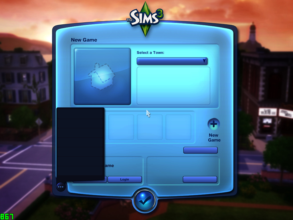 No text whatsoever on cracked The Sims 3 with all expansions Ts3w_210