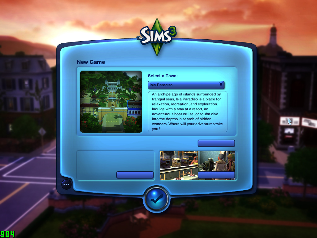 No text whatsoever on cracked The Sims 3 with all expansions Ts3w_212