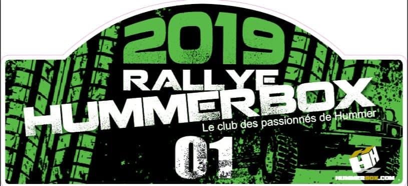 Rallye Hummerbox 31 Mai/1&2 Juin ; La 7 ème édition en 2019 en Corrèze(19300) Plaque12