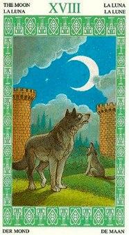 18 Луна (колода Таро Ленорман) 18_a10