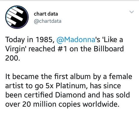 "Relembre ""Like A Virgin"", de Madonna.  Screen15"