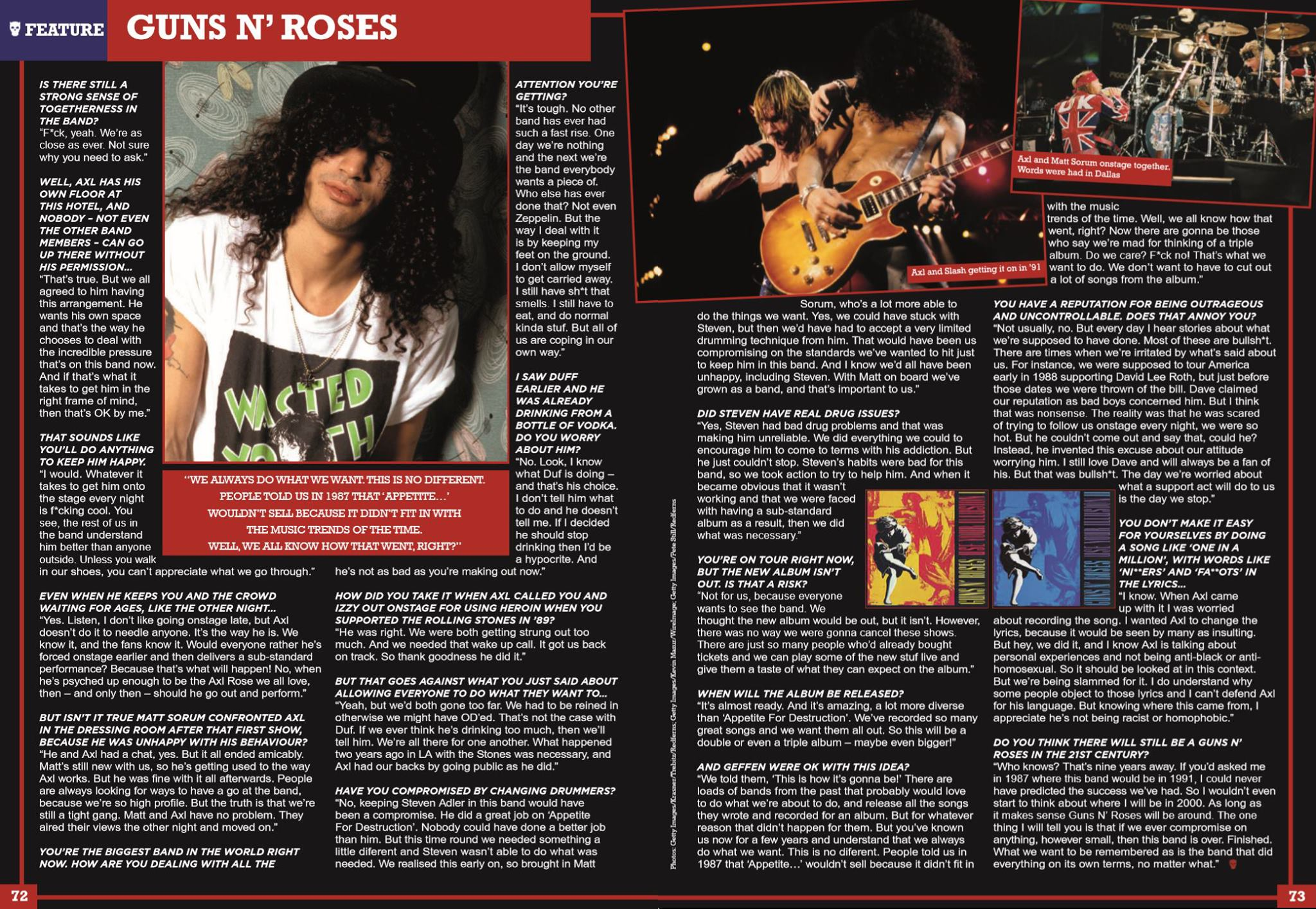 1991.07.09 - Interview with Slash by Malcolm Dome 17215410