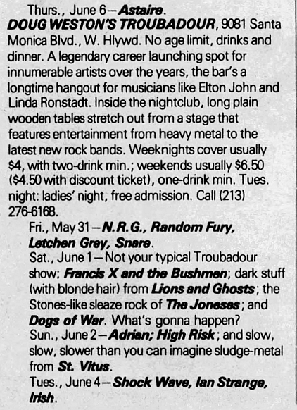 1985.06.06 - The Troubadour, Los Angeles, USA 1985_020