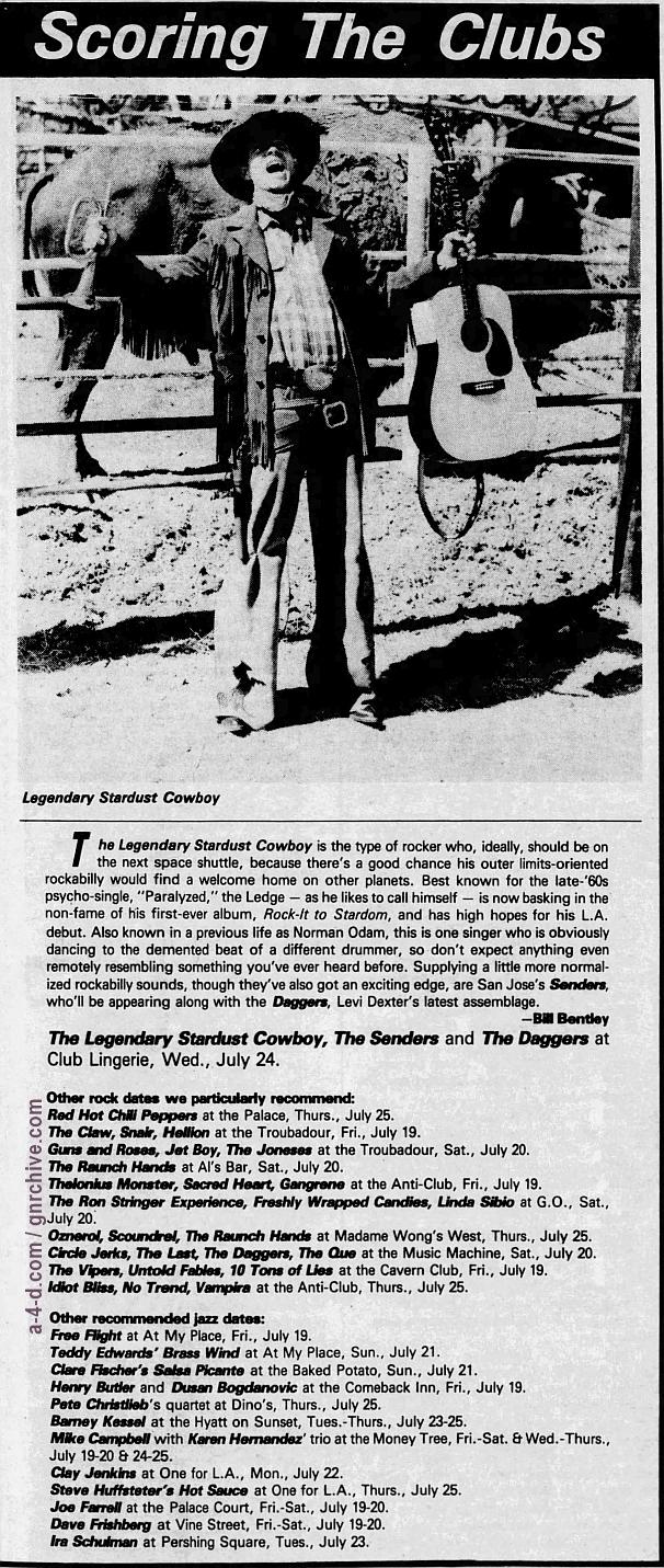 1985.07.20 - The Troubadour, Los Angeles, USA 1985_025