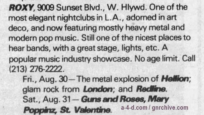 1985.08.31 - Roxy Theatre, LA, USA 1985_028