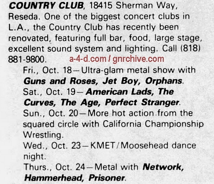 1985.10.18 - Country Club, Reseda, CA, USA 1985_114