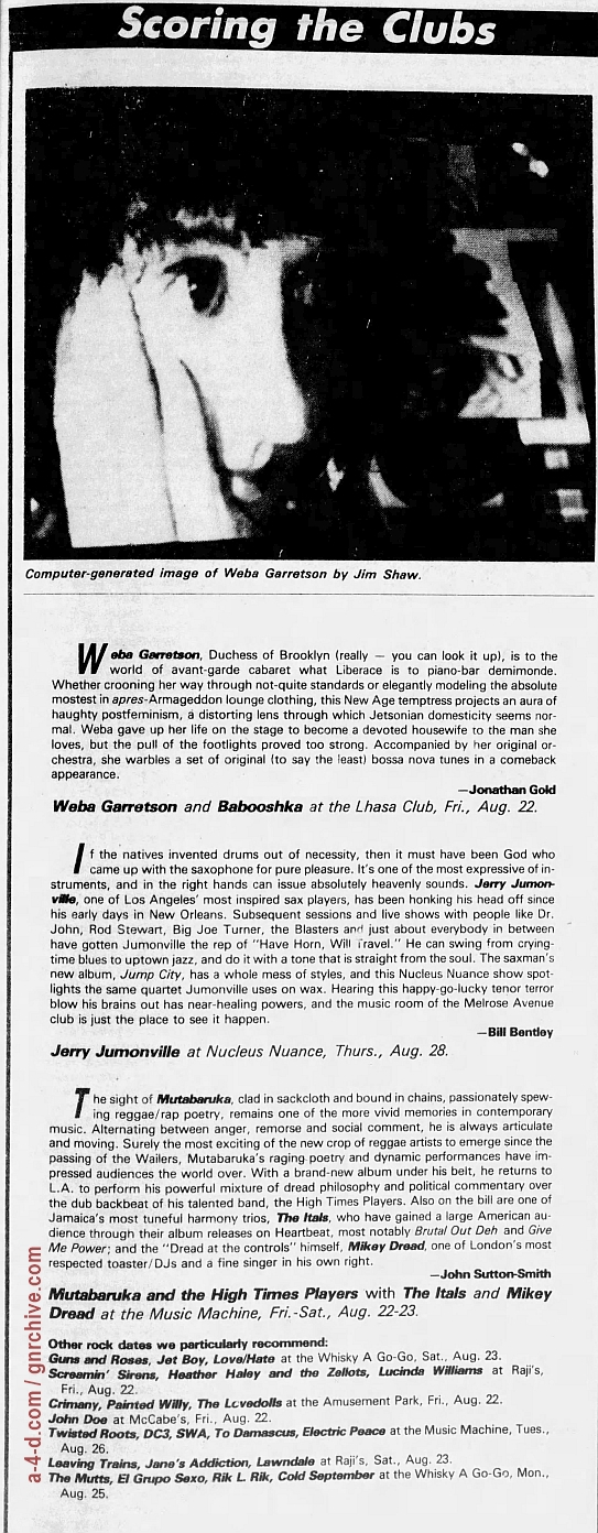 1986.08.23 - Whisky A Go Go, Los Angeles, USA 1986_028