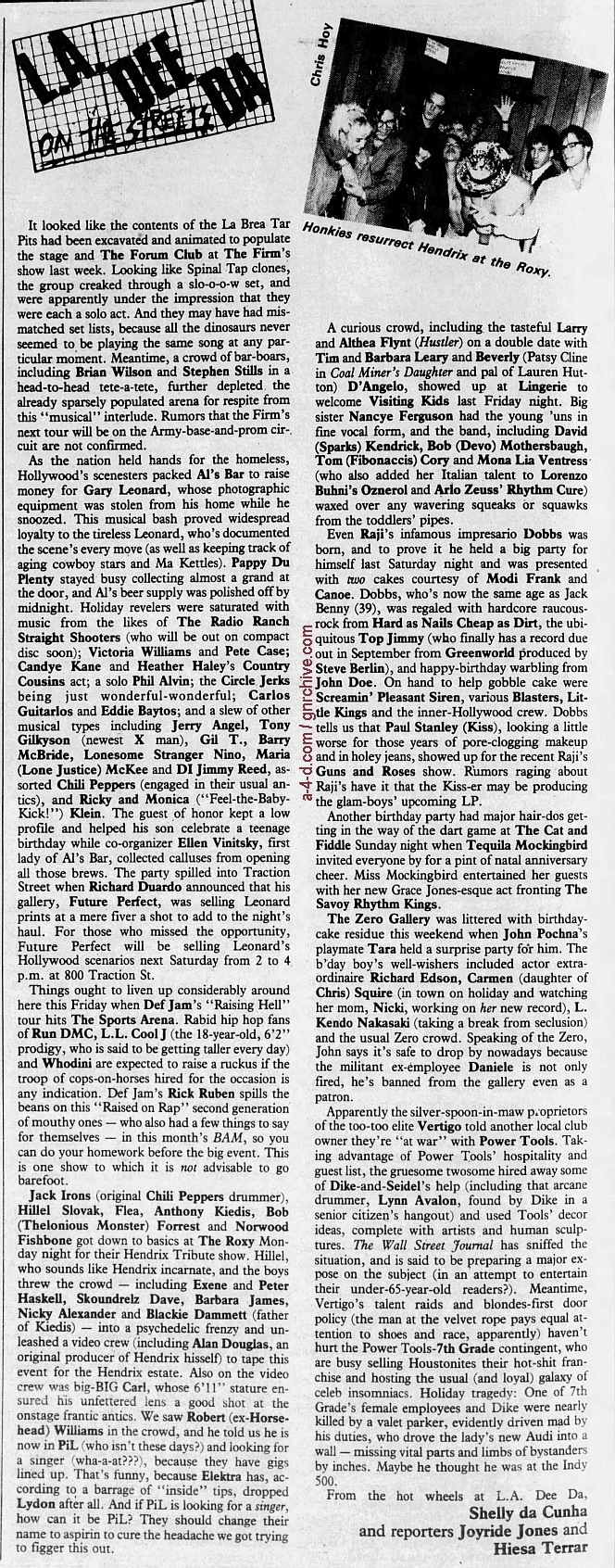 1986.05.31 - L.A. Weekly - L.A. Dee Da [Guns N' Roses - Paul Stanley mention] 1986_032