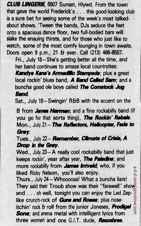 1986.07.24 - Club Lingerie, Los Angeles, USA 1986_035