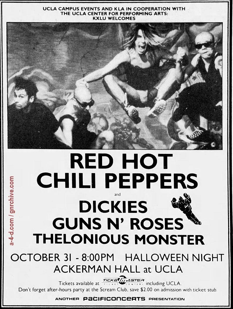 1986.10.31 - Ackermann Hall, Los Angeles, USA 1986_113
