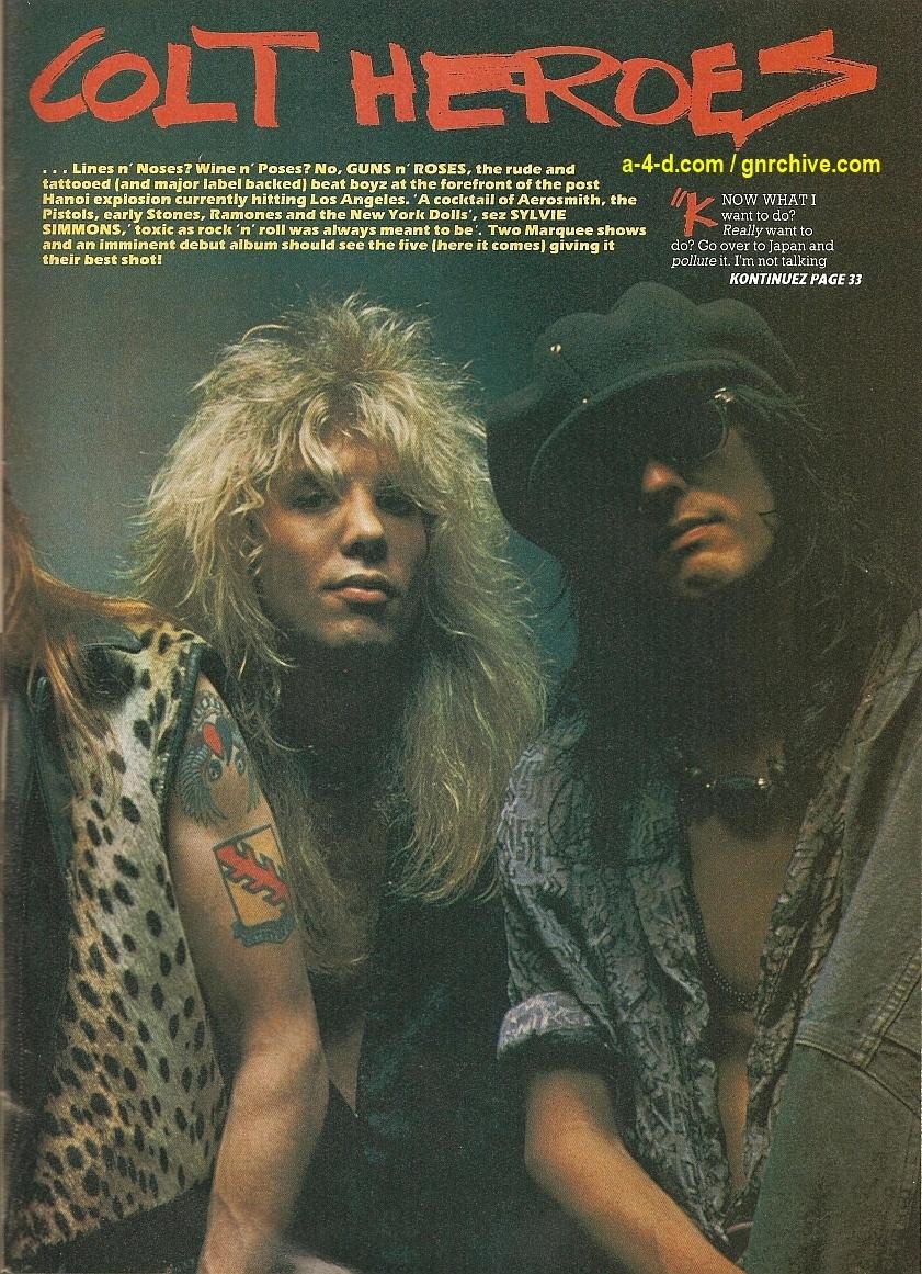 """1987.06.11 - Kerrang! - """"Colt Heroes"""" 1987-011"""