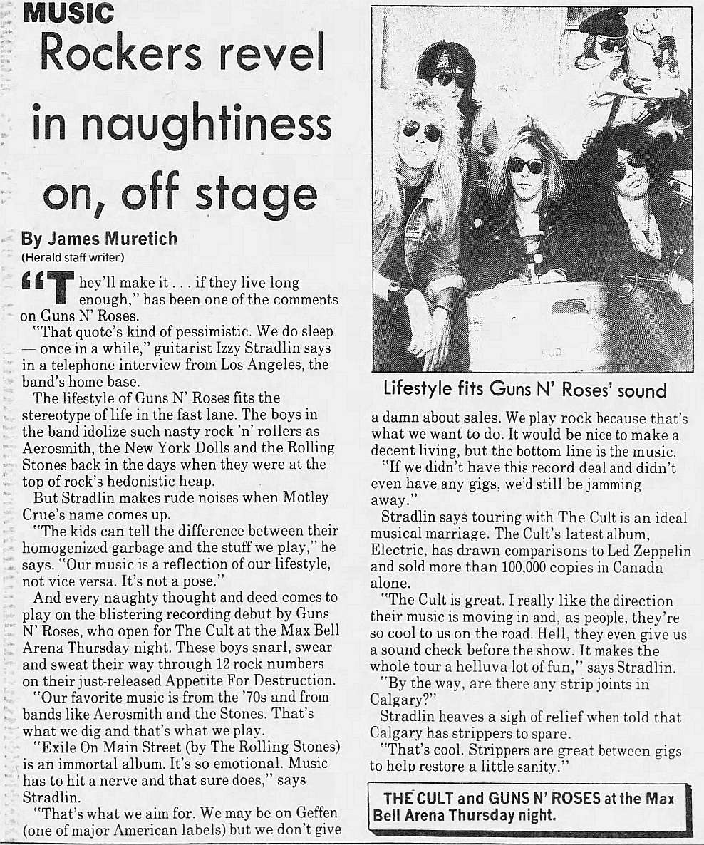 1987.08.21 - The Calgary Herald - Rockers revel in naughtiness on, off stage (Izzy) 1987_011