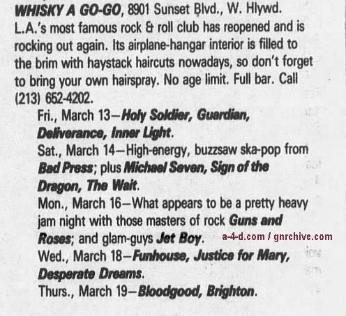 1987.03.16 - Whisky A Go Go, Los Angeles, USA 1987_022