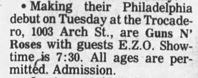 1987.10.20 - Trocadero, Philadelphia, USA 1987_111