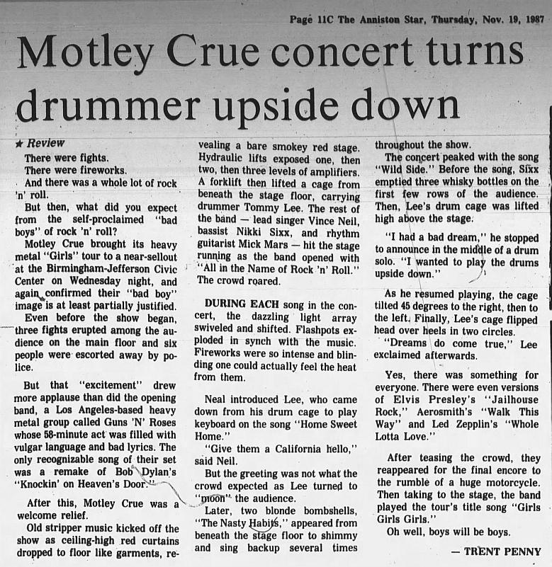 1987.11.18 - Jefferson Civic Center, Birmingham, USA 1987_117