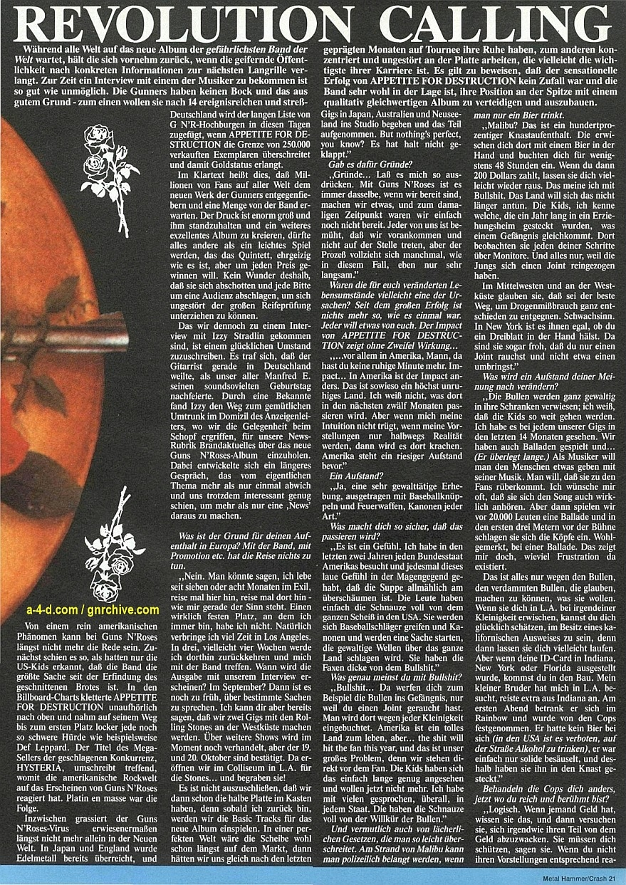 1989.09.DD - Metal Hammer (Germany) - Revolution Calling (Izzy) 1988-023