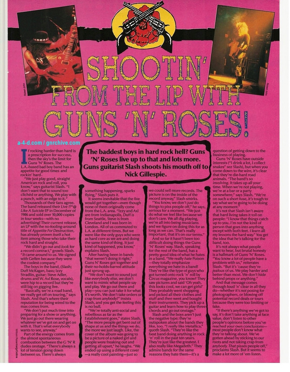 1988.11.DD - Smash Hits - Shooting From The Lip With Guns N' Roses! (Slash) 1988-112