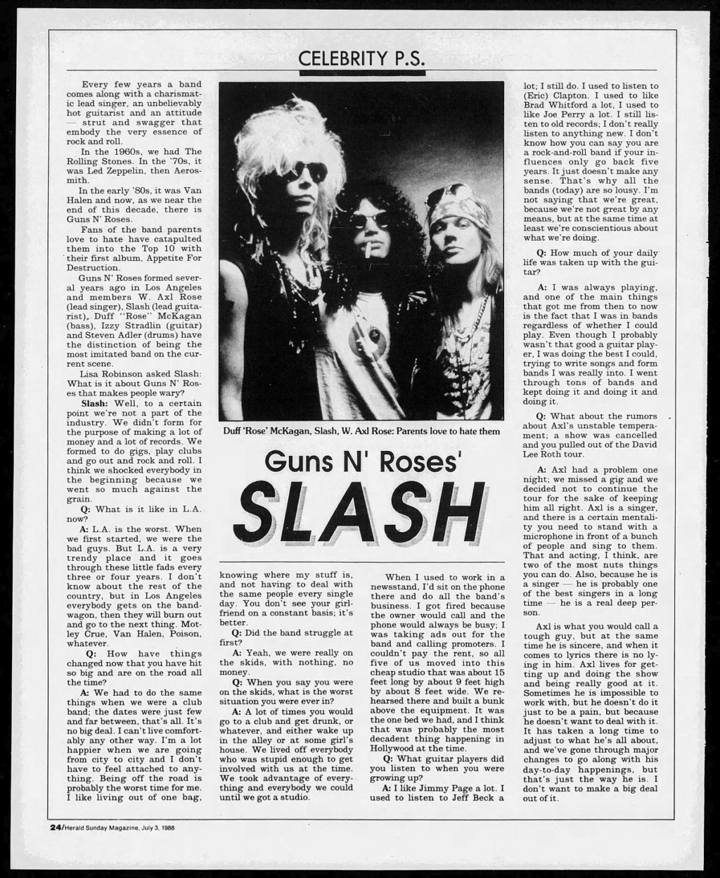 1988.07.03 - The Calgary Herald - Guns N' Roses' Slash 1988_010