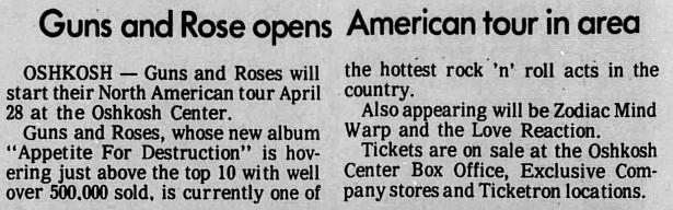 1988.04.27 - Oshkosh Center, Oshkosh, USA 1988_013