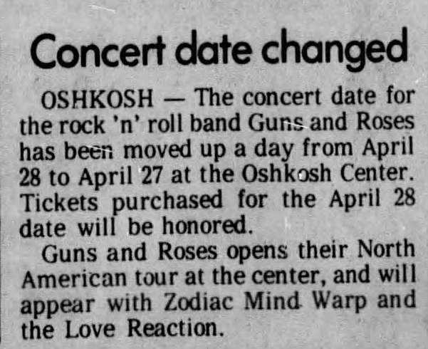 1988.04.27 - Oshkosh Center, Oshkosh, USA 1988_014