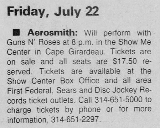 1988.07.22 - Show Me Center, Cape Girardeau, USA 1988_027