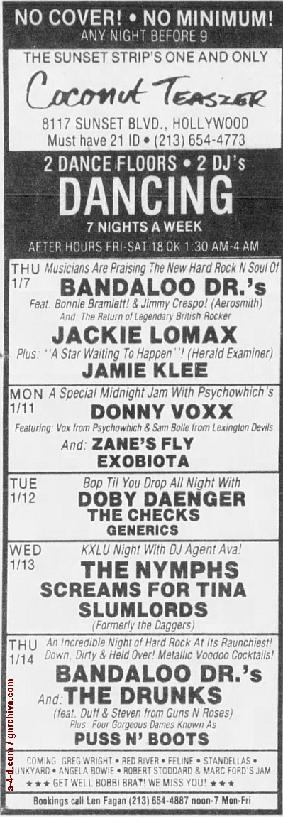 1988.01.08 - L.A. Weekly - L.A. Dee Da On The Streets [Axl/Drunk Fux show] 1988_064