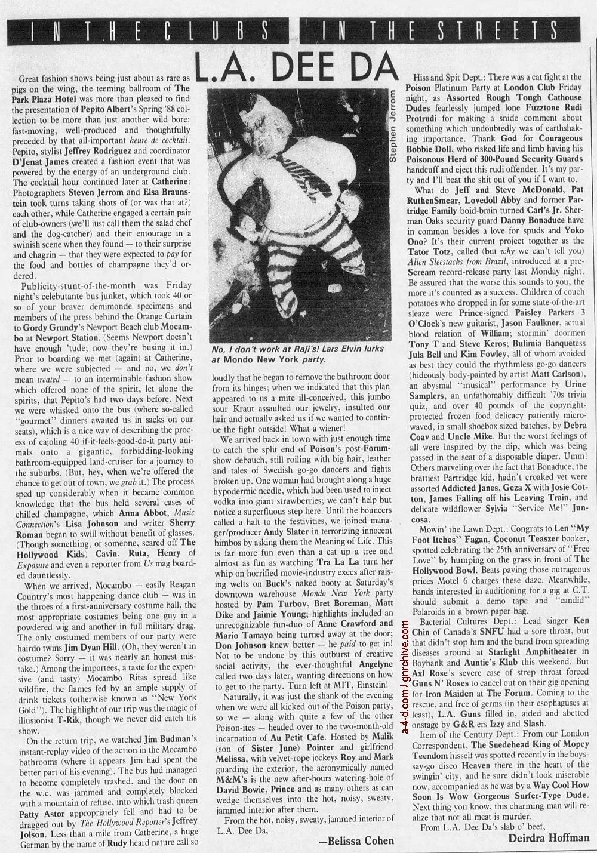 1988.06.17 - L.A. Weekly - L.A. Dee Da (Axl, Slash, Izzy) 1988_084